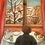 "Gabriele Munter, ""Breakfast with Birds,"" 1934"