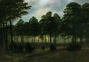 Caspar David Friedrich, Evening, 1820