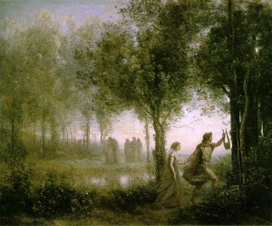 Corot, Orpheus leading Eurydice through the Underworld